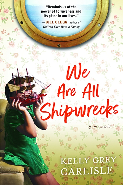 we are all shipwrecks cover young girl hold ship model in front of wallpaper and mirror