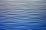 close up of pattern resembling both ocean waves and sound waves