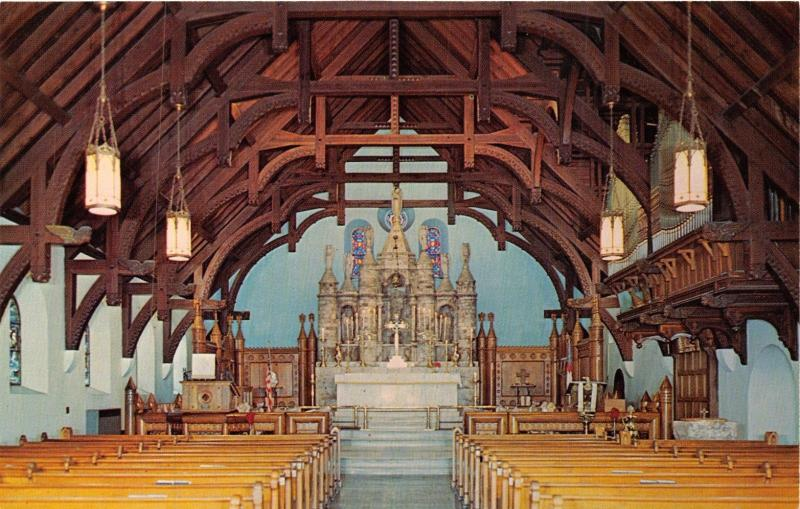 ANNISTON ALABAMA ST MICHAEL ALL ANGELS PROTESTANT EPISCOPAL INTERIOR     ANNISTON ALABAMA ST MICHAEL ALL ANGELS PROTESTANT EPISCOPAL INTERIOR  POSTCARD
