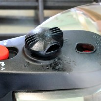 Let go of release valve for full speed pressure release.