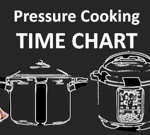 Pressure Cooking TIME CHART - Stovetop and Electric Pressure Cookers