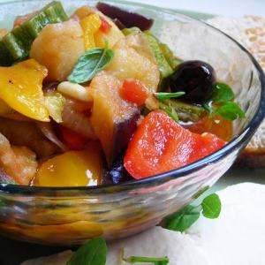 Pressure Cooked Sicilian Summer Vegetable Medley - Caponatina