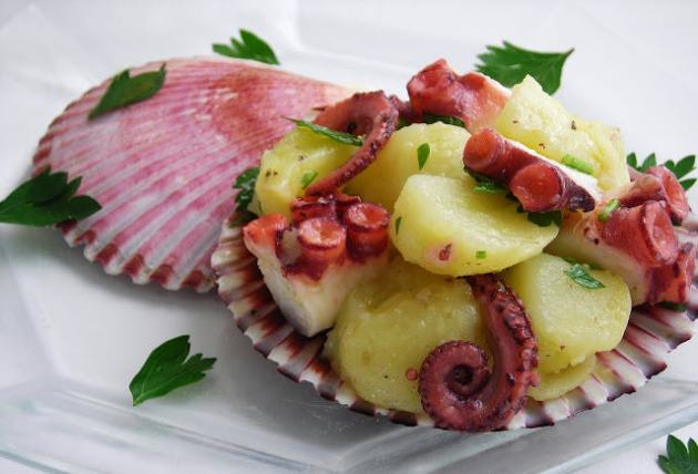 pressure cooked octopus