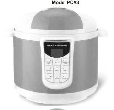Cook's Essentials Digital Pressure Cooker Manual