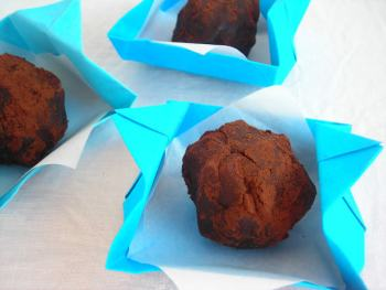 Pressure Cooker Chestnut Truffles with Crunchy Hazelnut Center