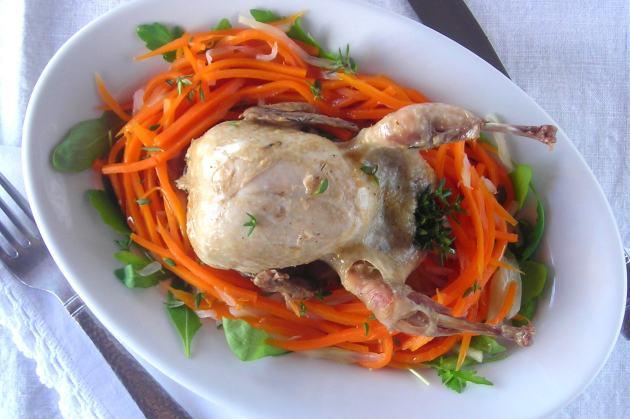 Quail and Veg PRESSURE COOKER recipe