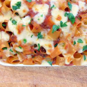 Pressure Cooker Pasta Casserole! A Cheesy, Meaty, Mess!