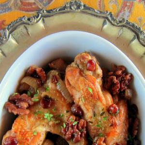 Cranberry Braised Turkey Wings – Pressure Cooker Recipe