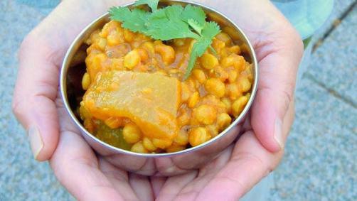 split pea pressure cooker curry