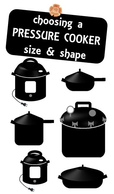 Choose the right size and shape pressure cooker, multi cooker and Instant Pot