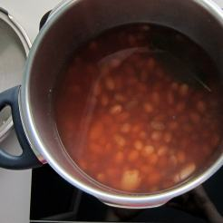 after fresh beans are pressure cooked