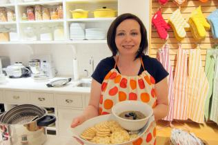 Laura Pazzaglia founder of hip pressure cooking with Eggplant Dip