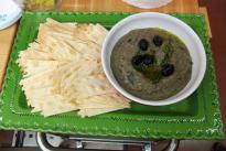 Eggplant and black olive caviar.