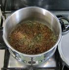 Underneath, lentils after pressure cooking.
