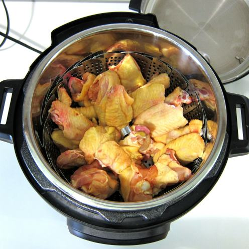 Spicy wings pressure cooker recipe.
