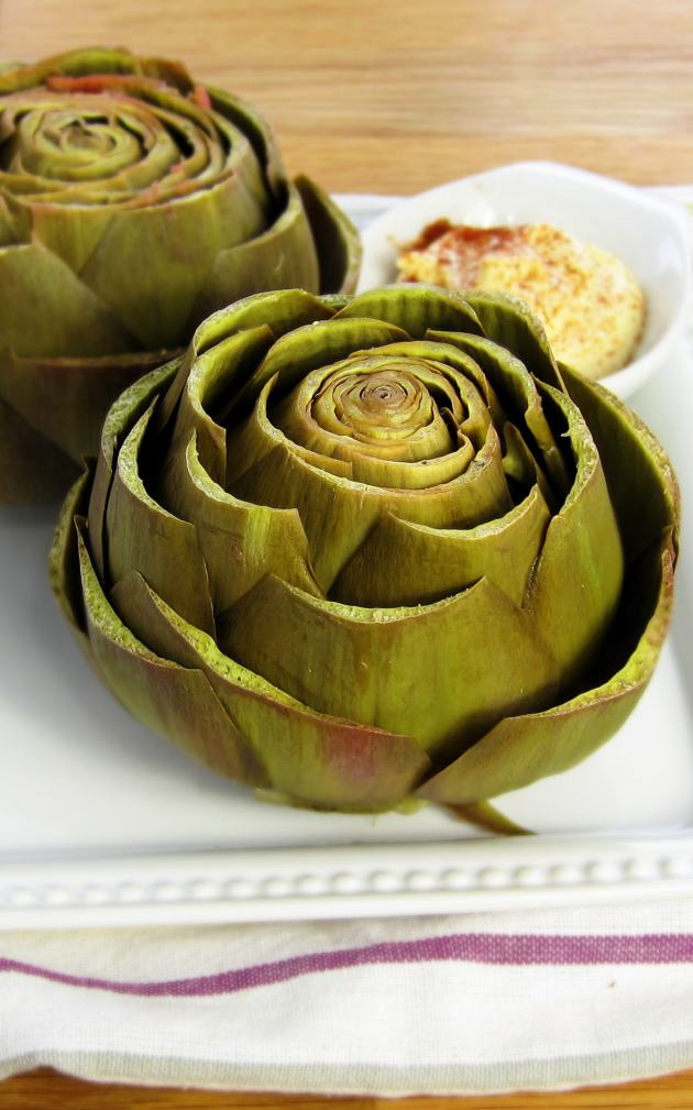 Perfectly Steamed Artichokes - pressure cooker recipe