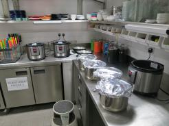 Some of the dishes were cooked the night before