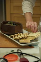 The eggplant dip - no double dipping!