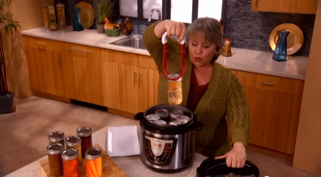This multi-cooker infomercial shows an actress pressure canning meat and vegetables- do not do this!