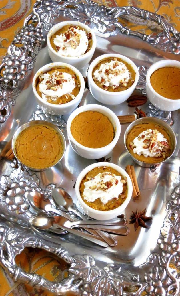 Crustless Pumpkin Pie (or filling) - from scratch!