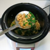 Transfer bean mixture to casserole.