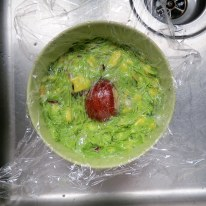 Store guacamole with the avocado pit pushed into the middle and tightly wrapped in plastic.