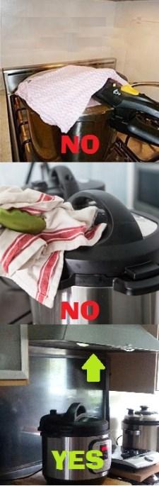 Consumer Alert: Don't Cover Pressure Cooker Valves