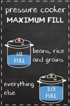 Pressure Cooker Maximum Fill Levels - Pressure Cooking School