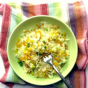 Pressure Cooker Confetti Basmati Rice Recipe