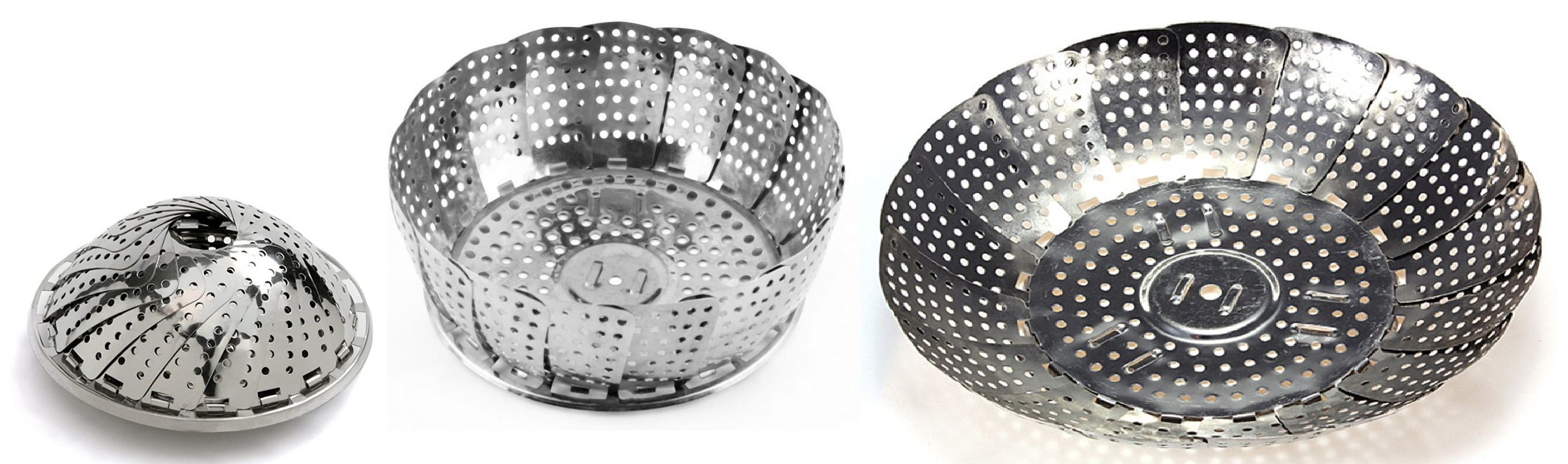 Collapsible Stainless Steel Steamer Basket (aka Flower-shaped Basket)