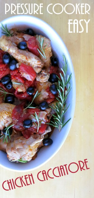 EASY Chicken Cacciatore Recipe - pressure cooker