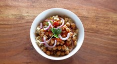 pressure cooker chickpea curry bowl one pot meal (instant pot recipe)