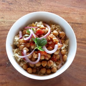 Chickpea Curry Rice Bowl – One Pot Meal
