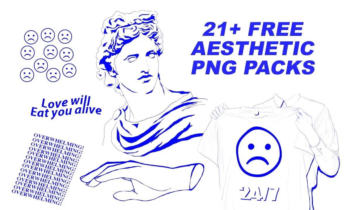 21 Free Aesthetic PNG Packs