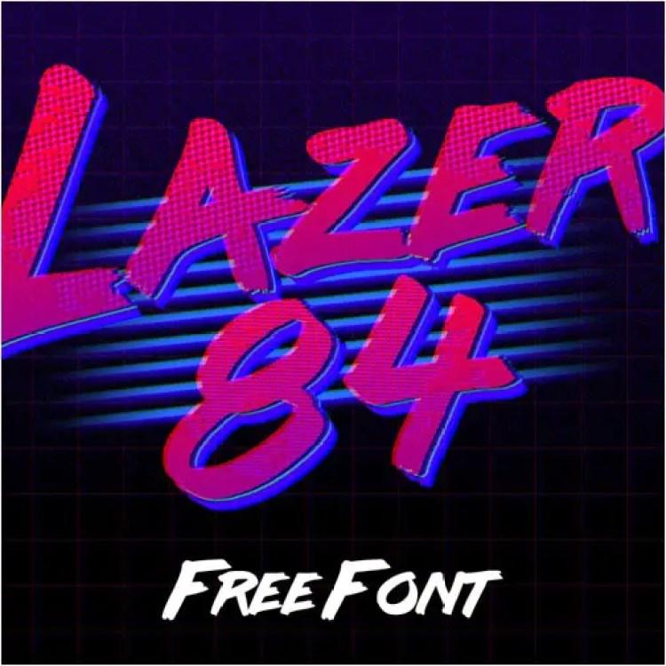 Lazer 84 Free 80's Fonts
