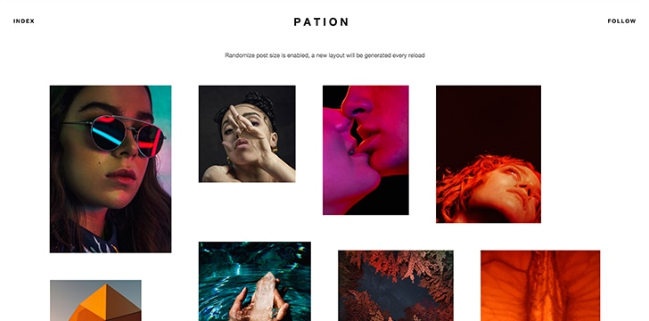 Pation Free Minimal Tumblr Theme