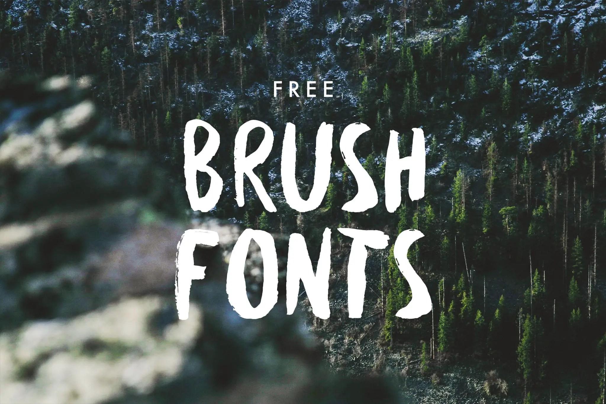 25 hand drawn free brush fonts hipsthetic