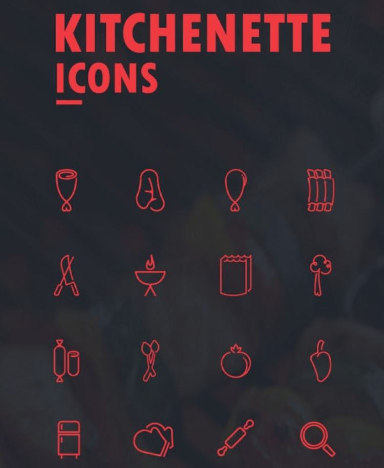 Free Kitchenette Vector Icons