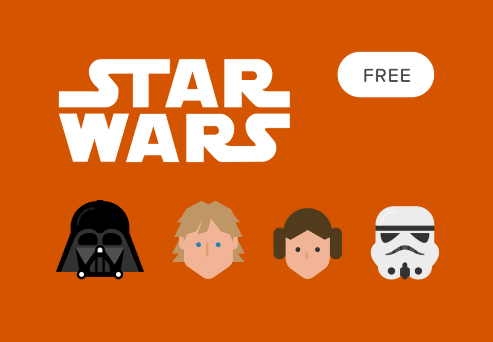 Free Star Wars Vector Icon Set
