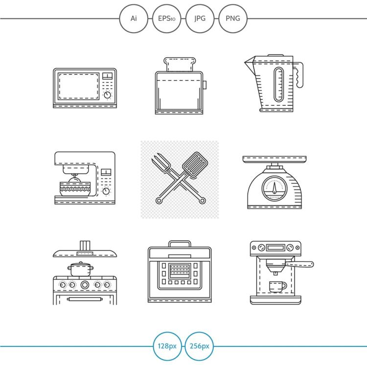 Free Kitchen Appliance Vector Icons