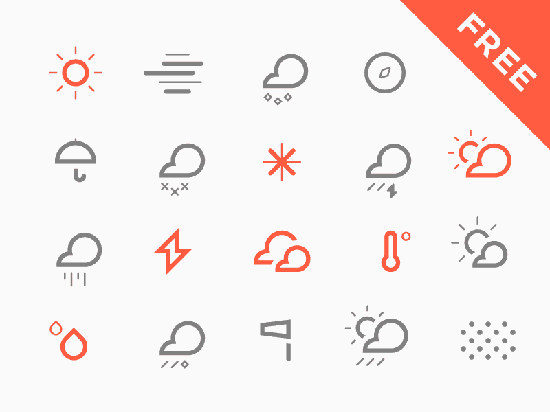 The Weather Is Round Free Vector Icons