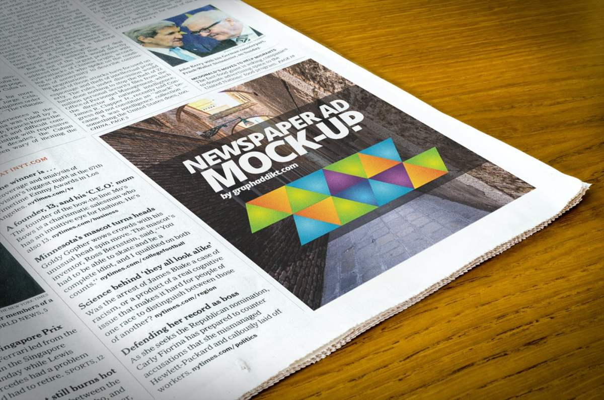 The Best Free Psd Newspaper Mockups Hipsthetic