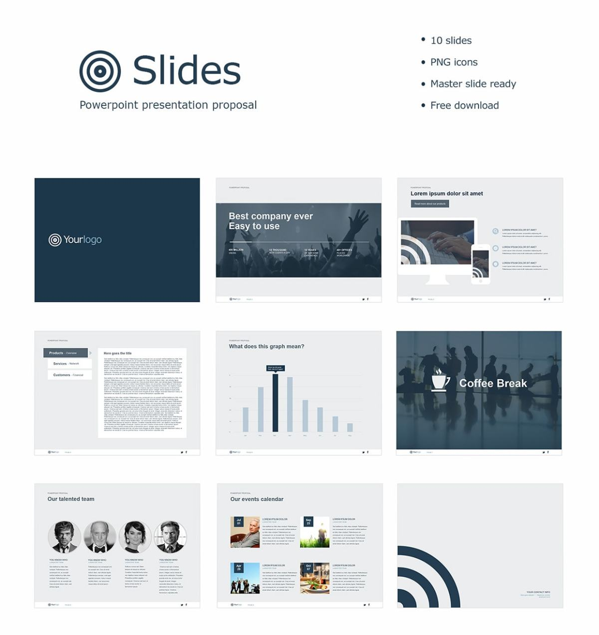 free powerpoint template slides