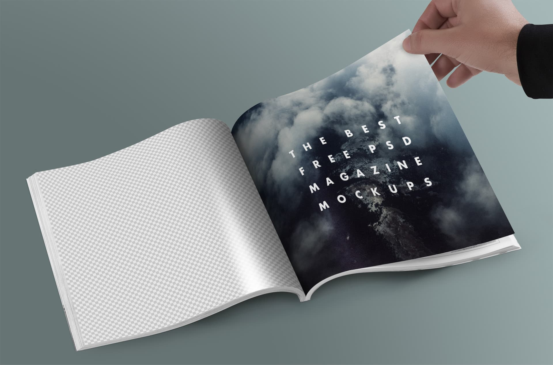a4 magazine mockup psd free download