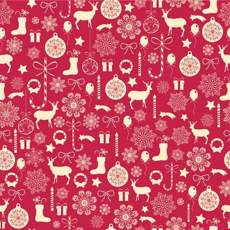 christmas pattern background red
