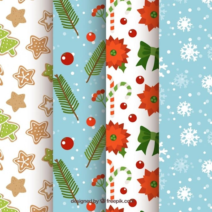 collection of beautiful christmas patterns