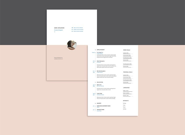 Minimal Advanced Resume Template