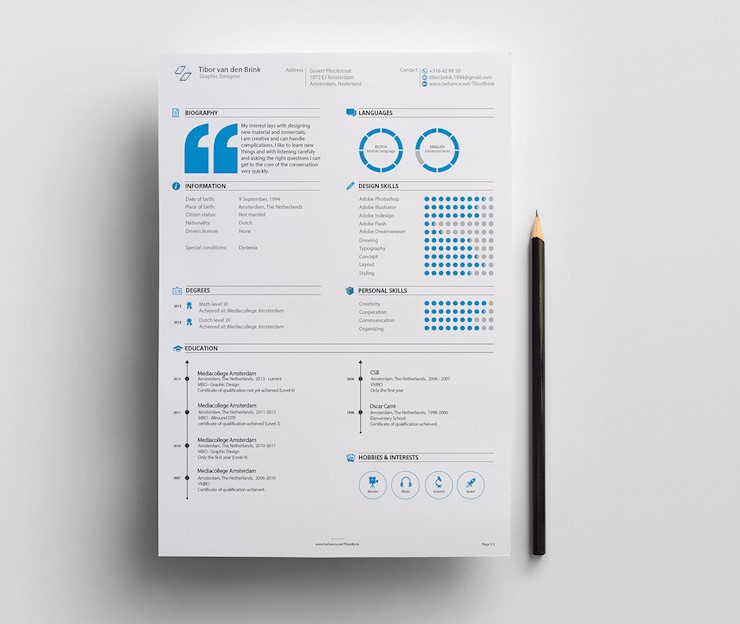 Personal Resume Designs Promotion
