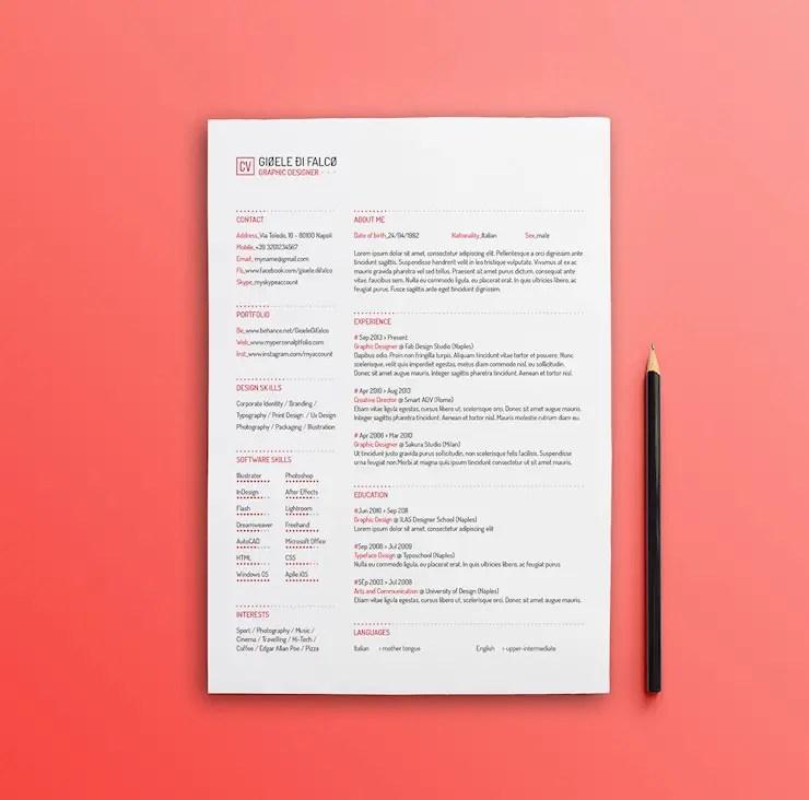 design skills resume