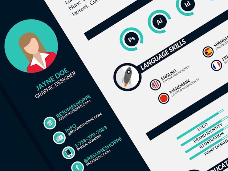 infographic resume designs